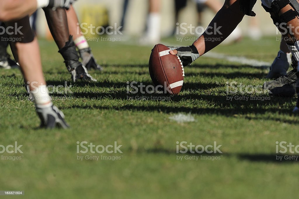 Hiking a Football stock photo