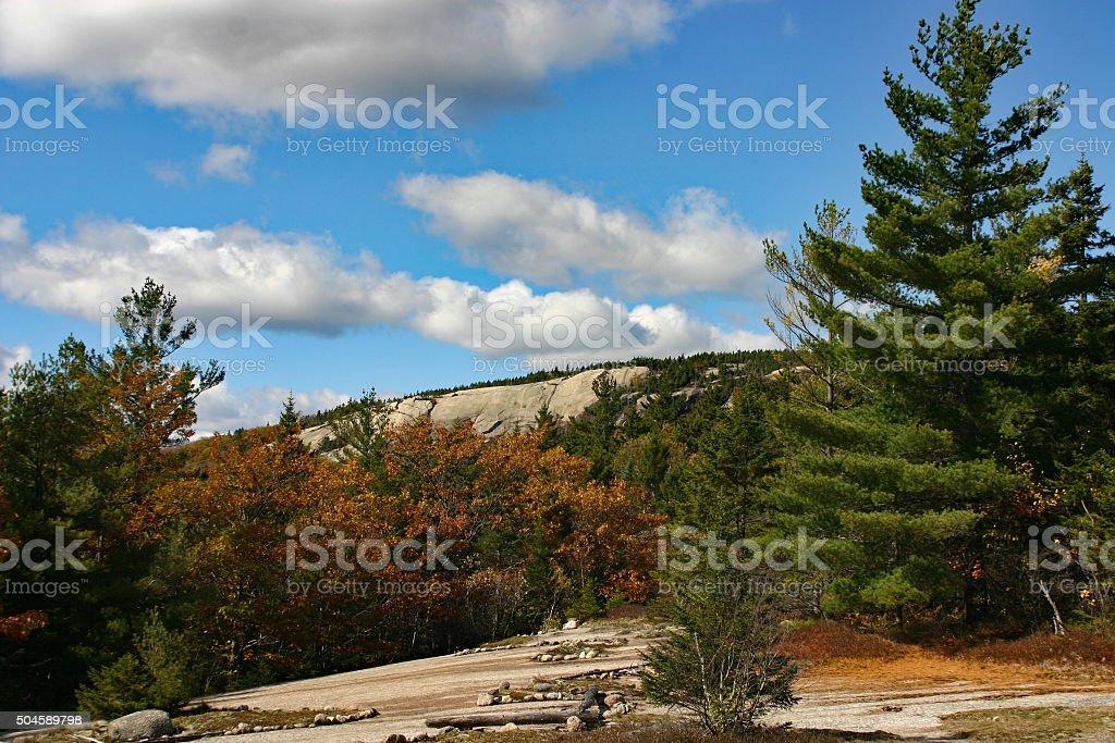 Un sentier de randonnée des montagnes Rocheuses dans le New Hampshire photo libre de droits