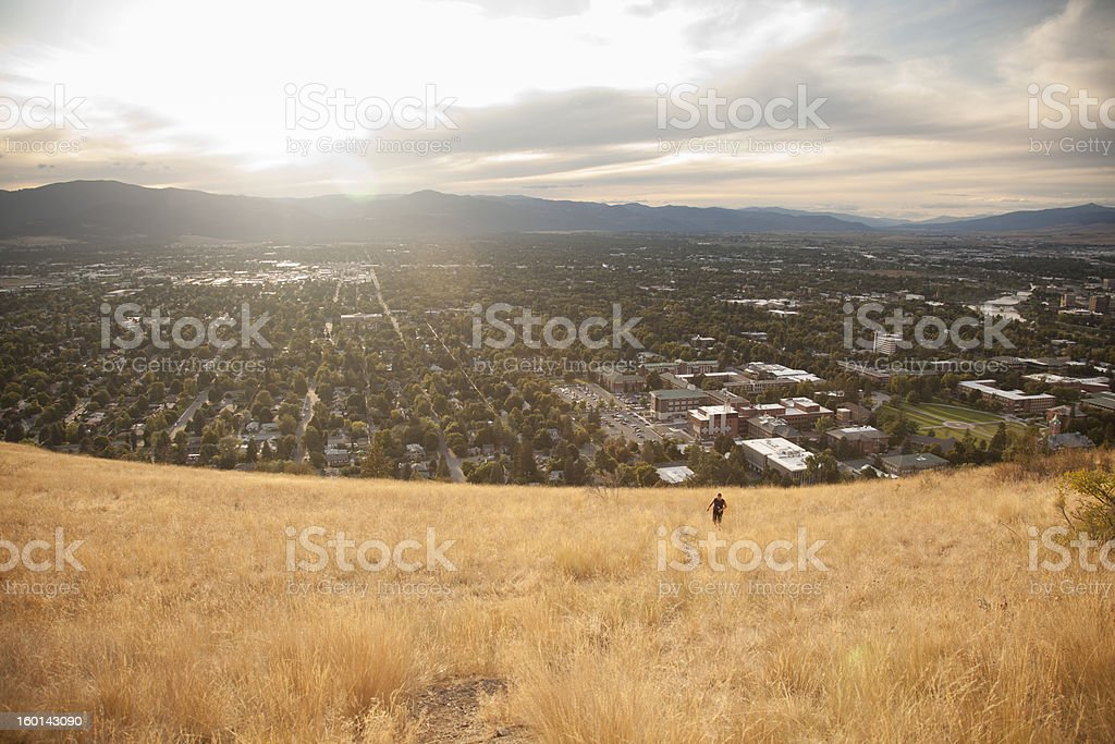 Hiking above Missoula, Montana stock photo