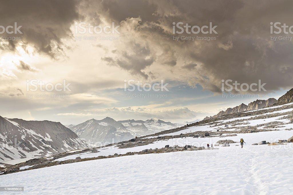 Hiking Adventure in the Sierra Nevada stock photo