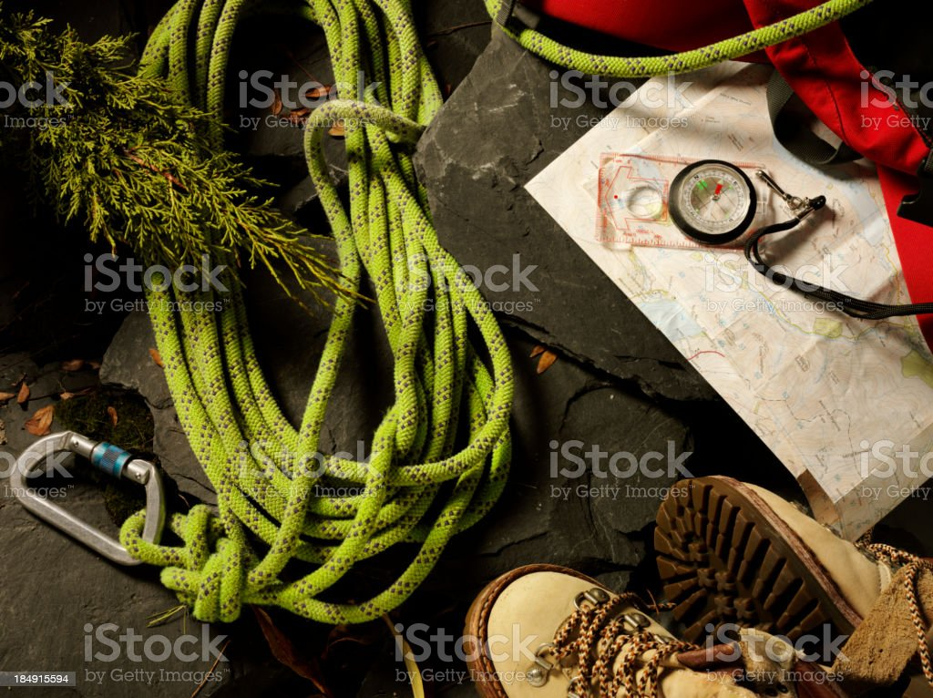 Hiking and Climing Pursuit royalty-free stock photo