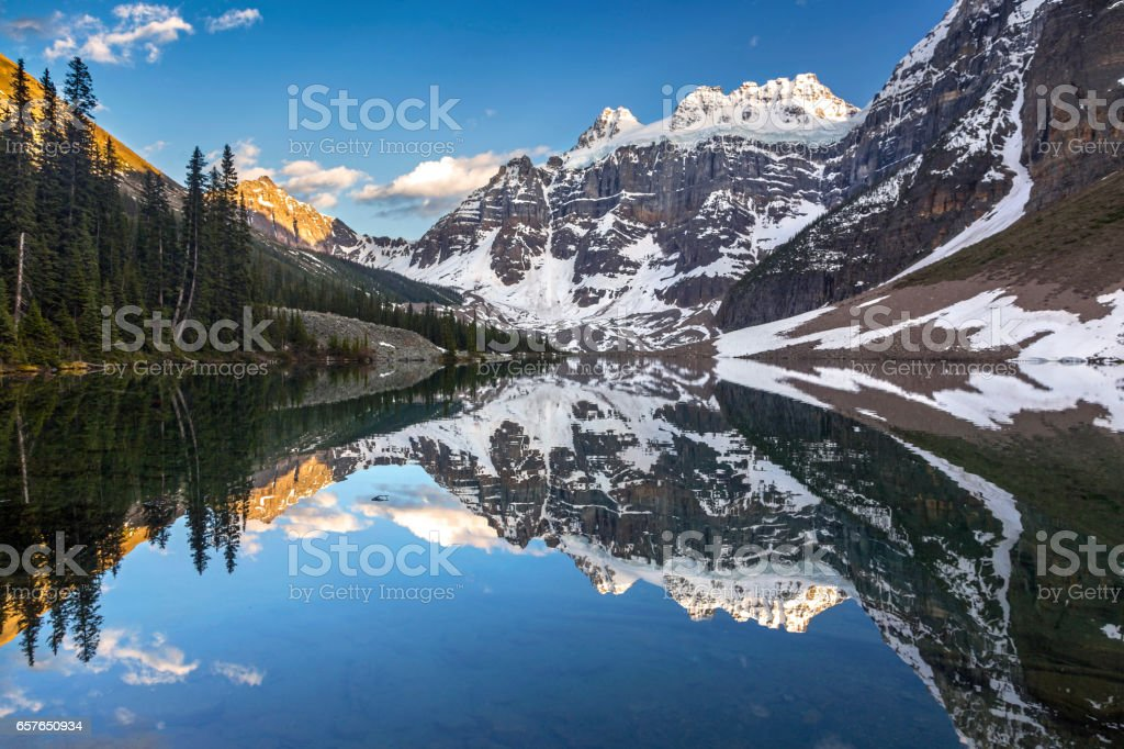 Hiking at Consolation Lakes in Banff National Park, Canadian Rocky Mountains stock photo