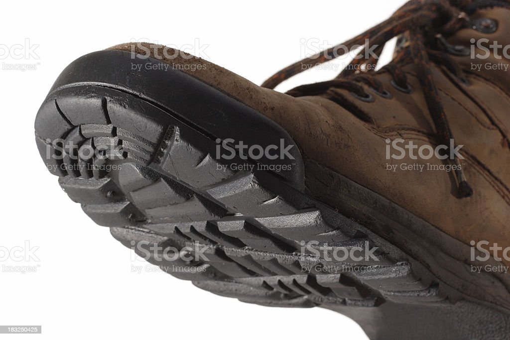 Hiking Boot Stepping Forward royalty-free stock photo