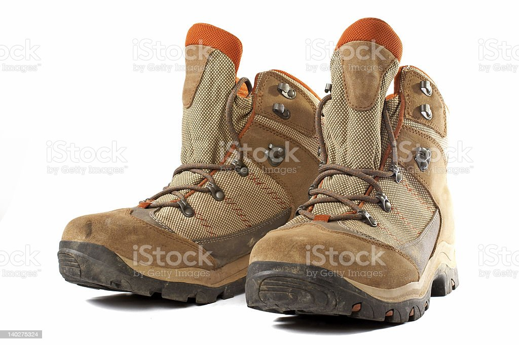 Hiking boots royalty-free stock photo