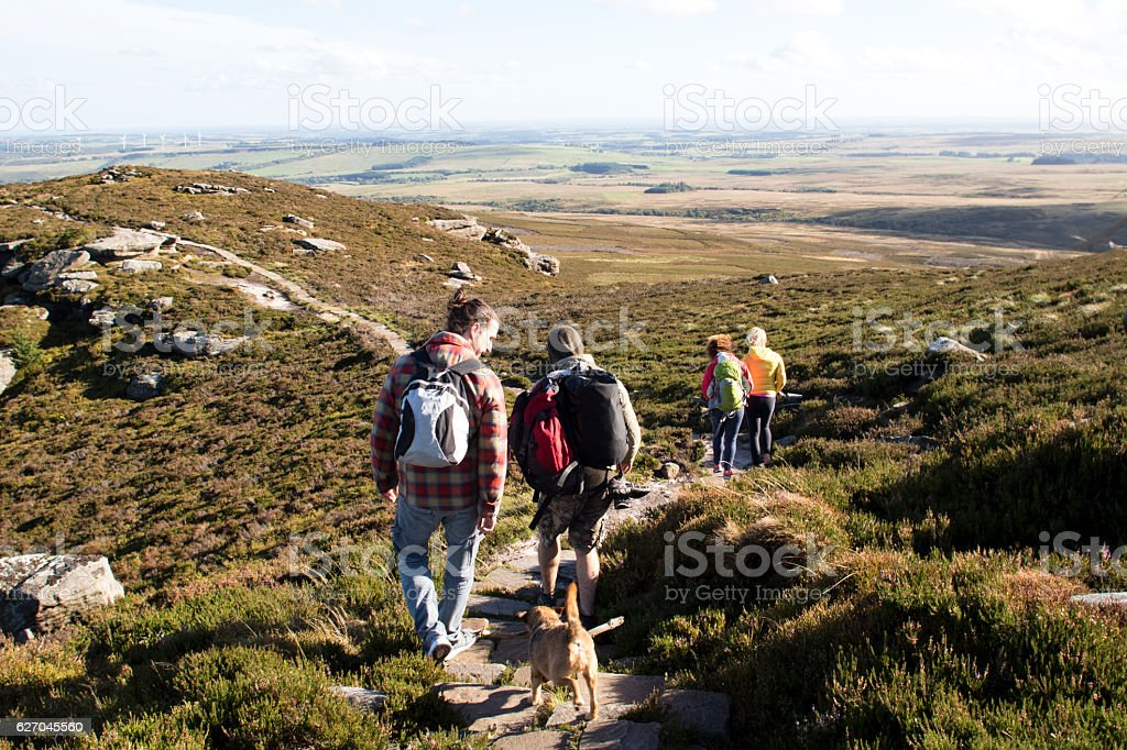 Hiking Club stock photo