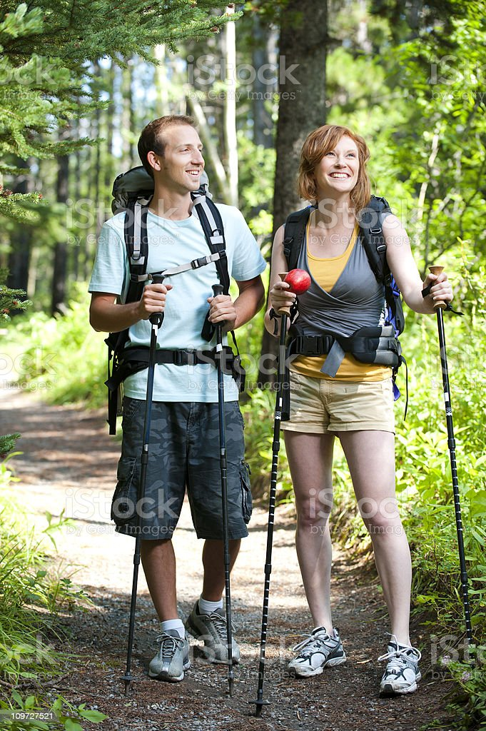 Hiking Couple royalty-free stock photo