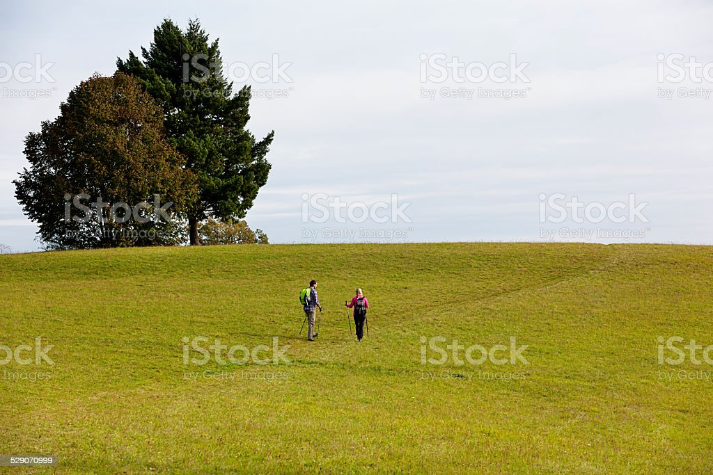 hiking couple stock photo