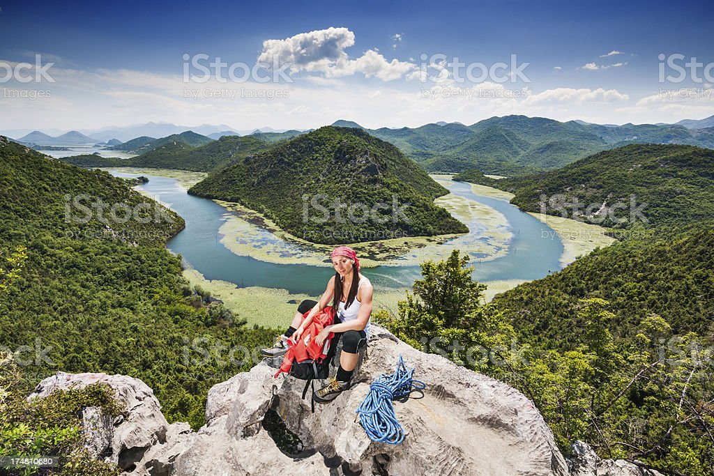 Hiking day royalty-free stock photo