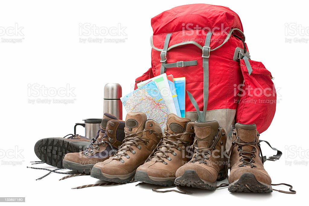 hiking equipment royalty-free stock photo