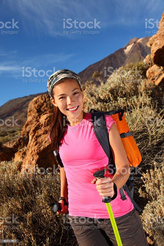Hiking - Female hiker royalty-free stock photo