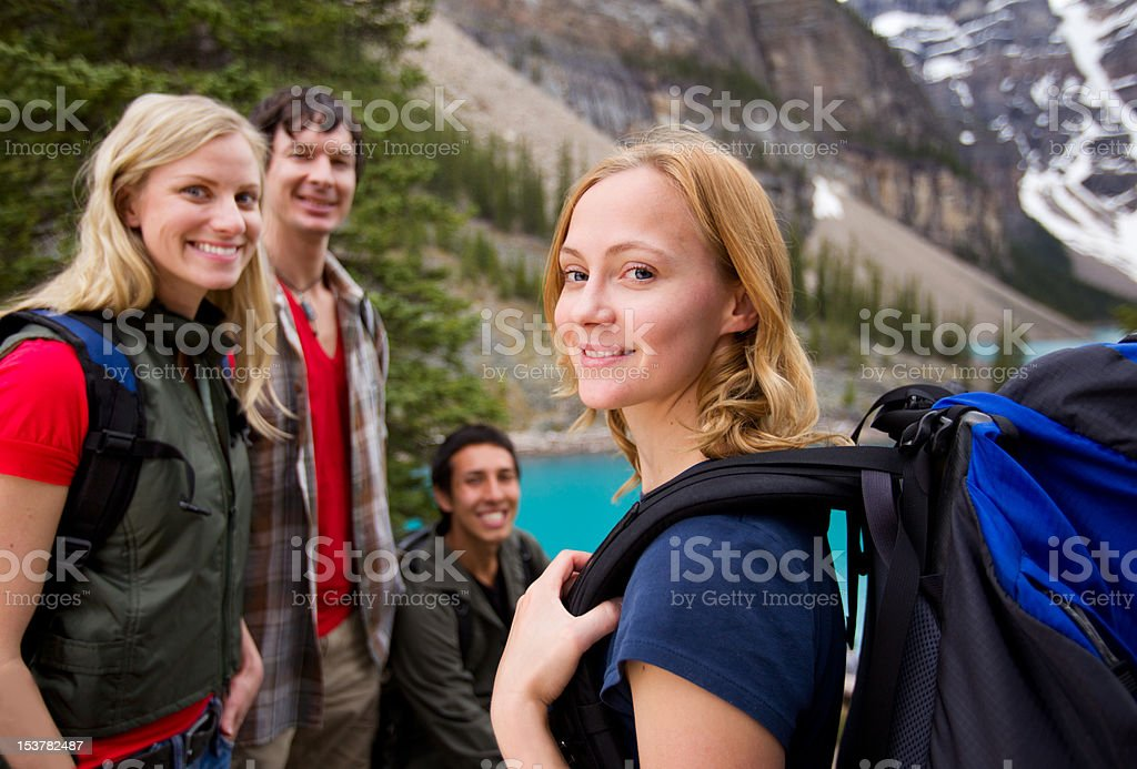 Hiking Friends Outdoor stock photo