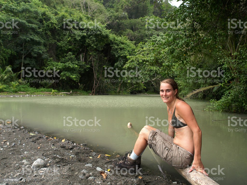 Hiking girl royalty-free stock photo