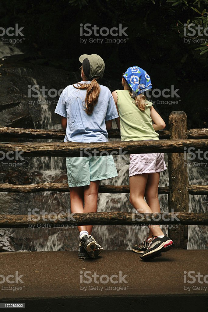 Hiking Girls royalty-free stock photo