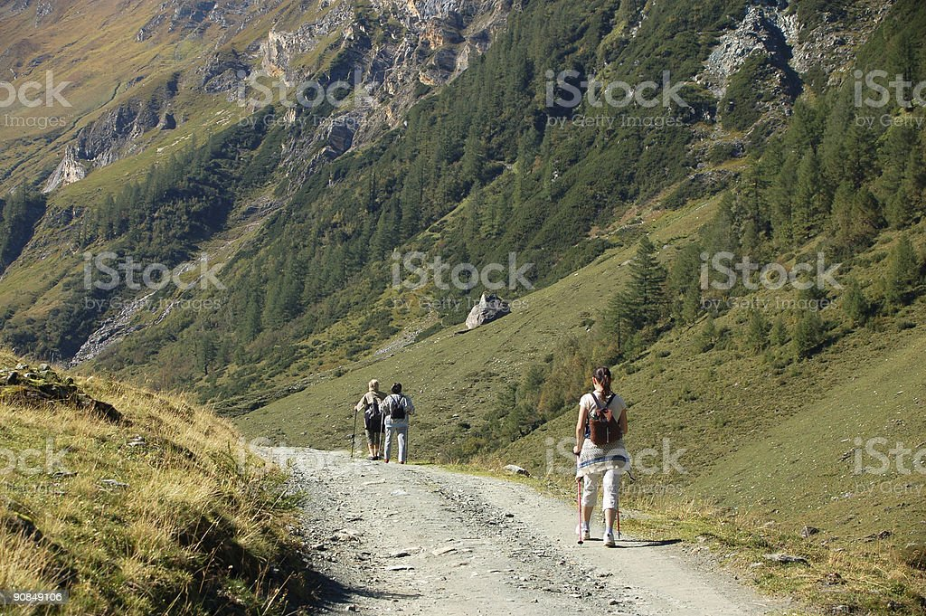 Hiking in Austria royalty-free stock photo