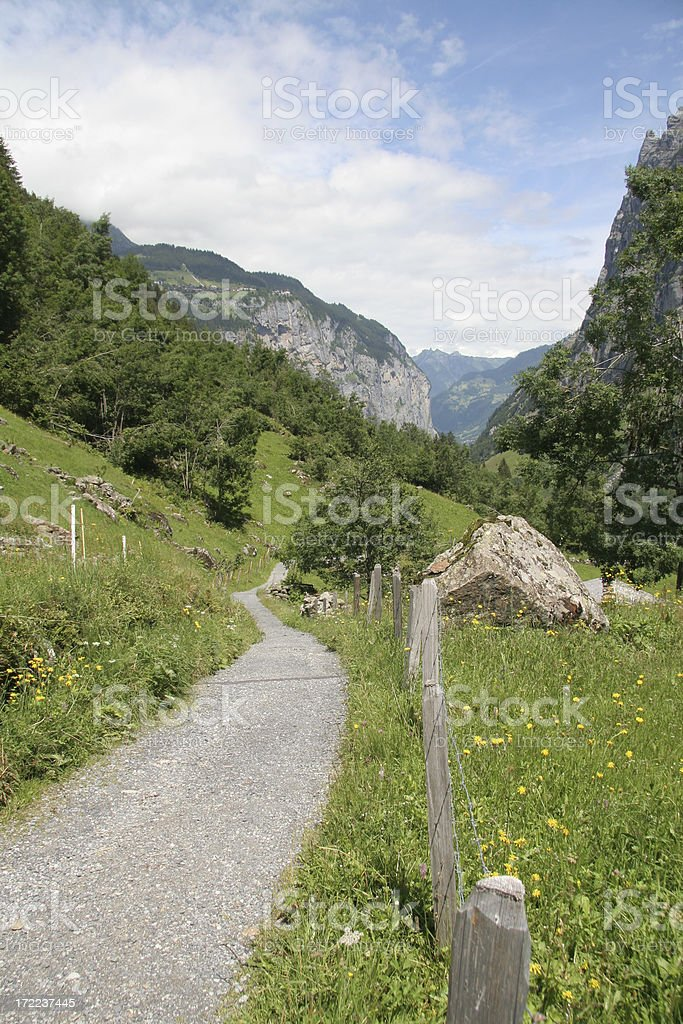 Hiking in bernese oberland royalty-free stock photo