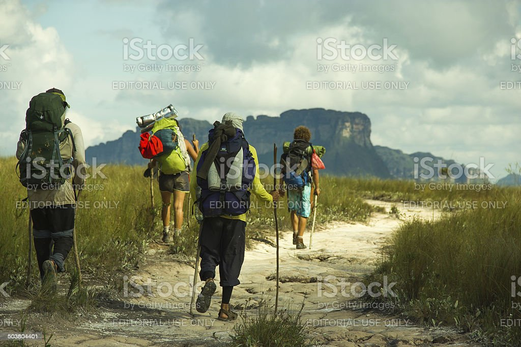 Hiking in Chapada Diamantina royalty-free stock photo