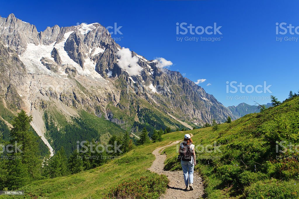 hiking in Ferret Valley stock photo