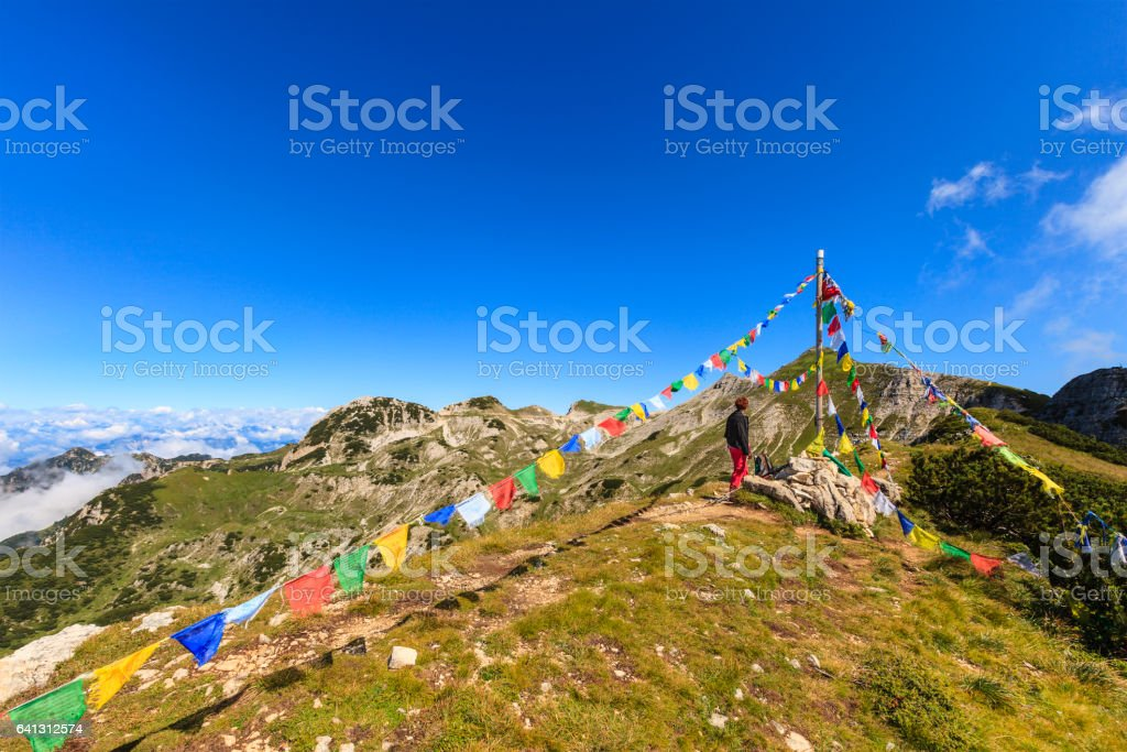 Hiking in Lessinia, Italy stock photo