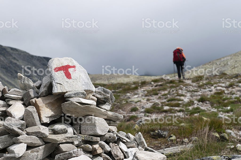 Hiking in Norway royalty-free stock photo