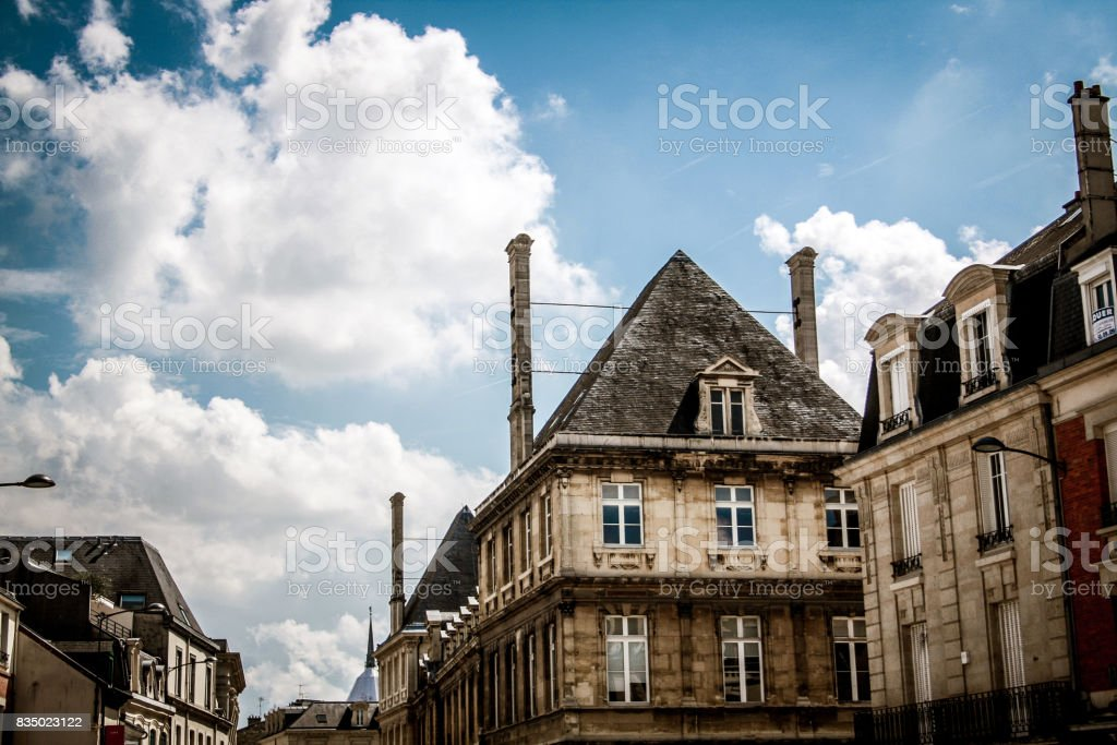 hiking in Reims stock photo