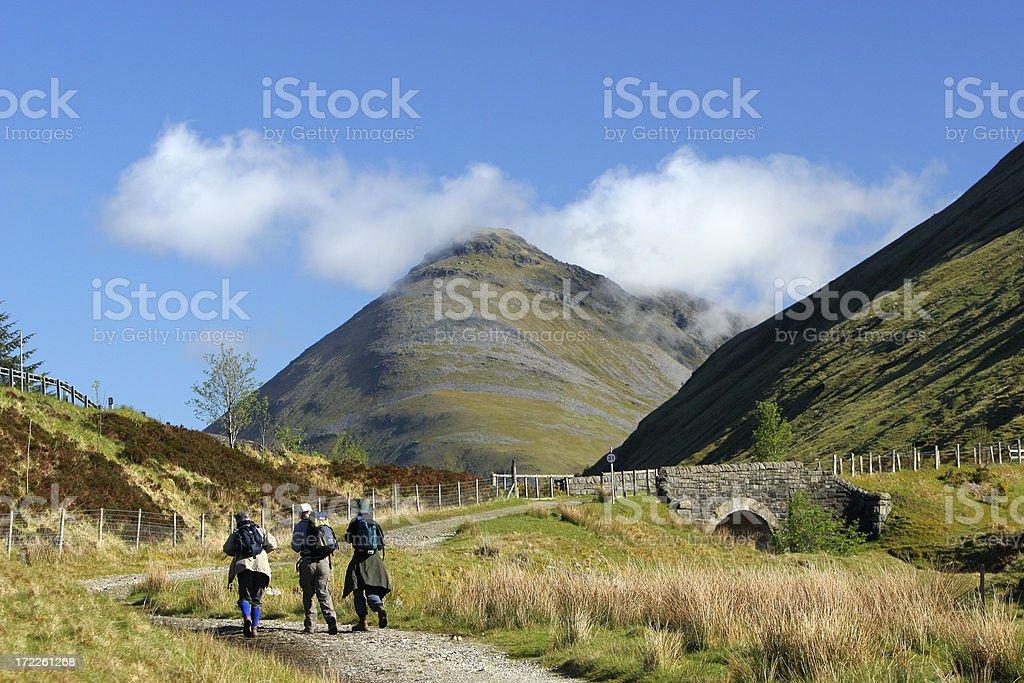 Hiking in Scotland stock photo