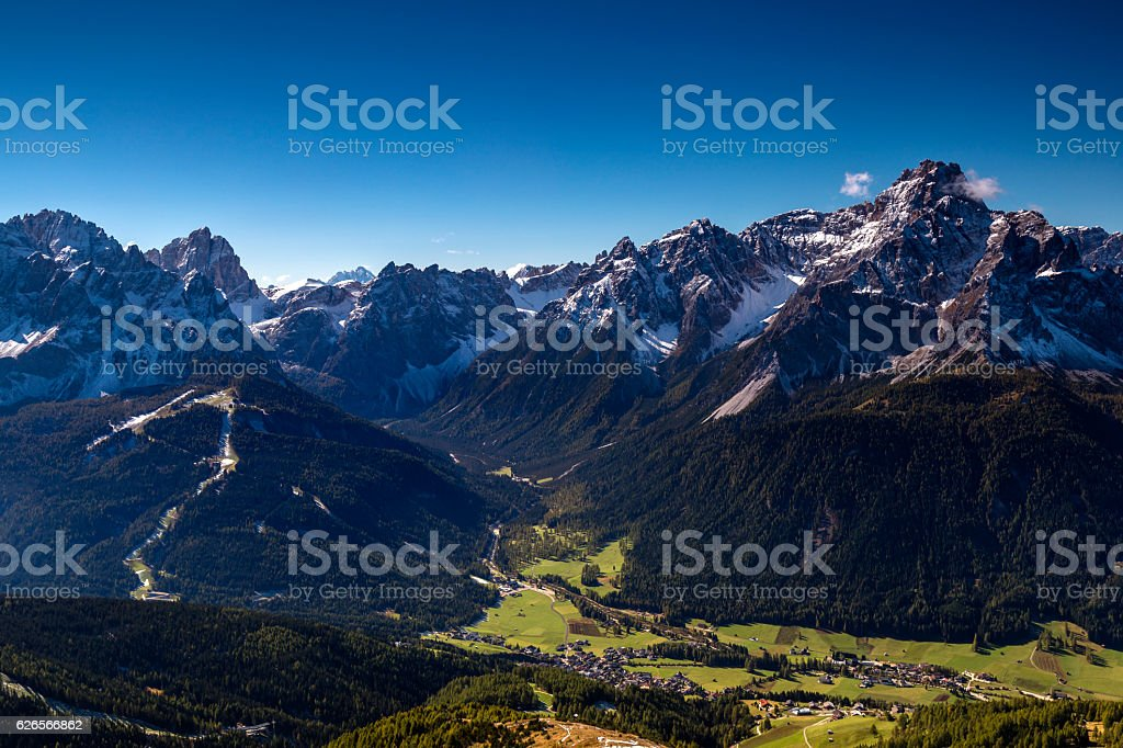 Hiking in South Tyrol stock photo