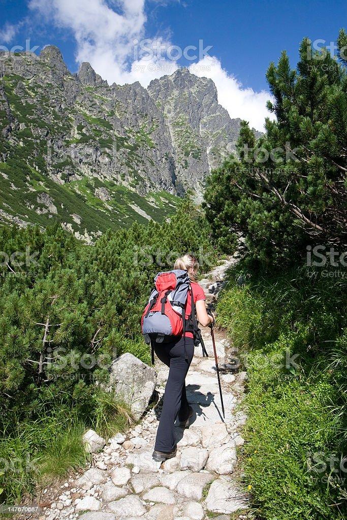 Hiking in Tatra Mountains royalty-free stock photo