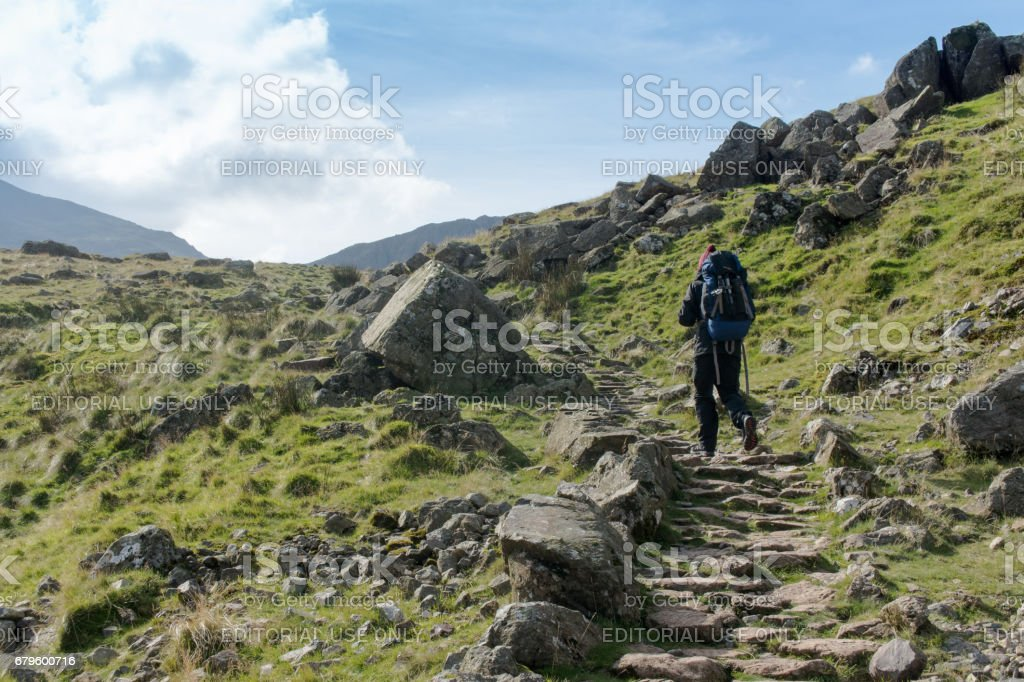 Hiking in the Lake District stock photo