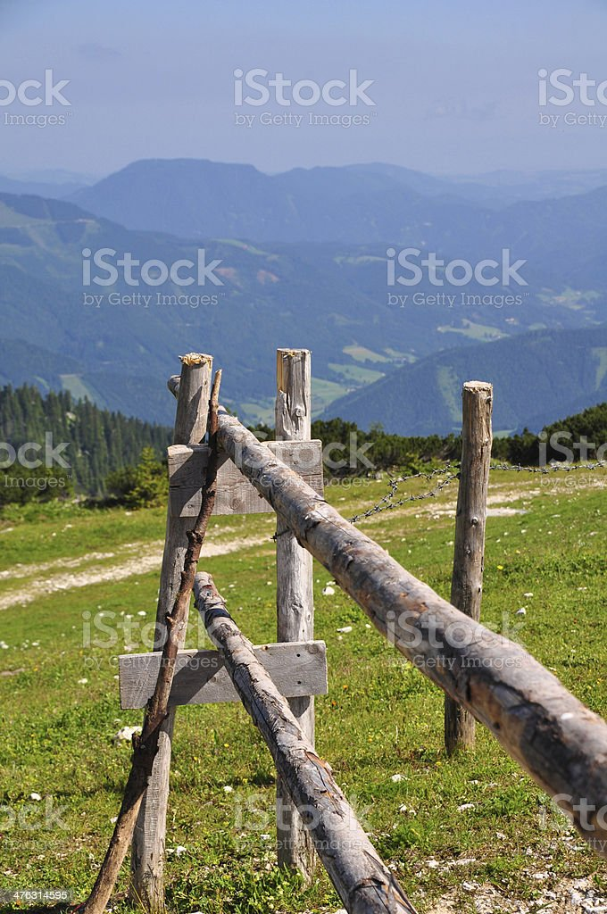 Hiking in the Mountains of Austria royalty-free stock photo