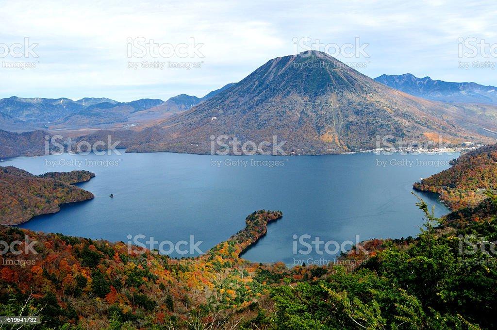 Hiking in the Mountains of Nikko stock photo