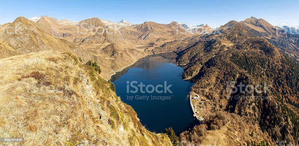Hiking in the mountains stock photo
