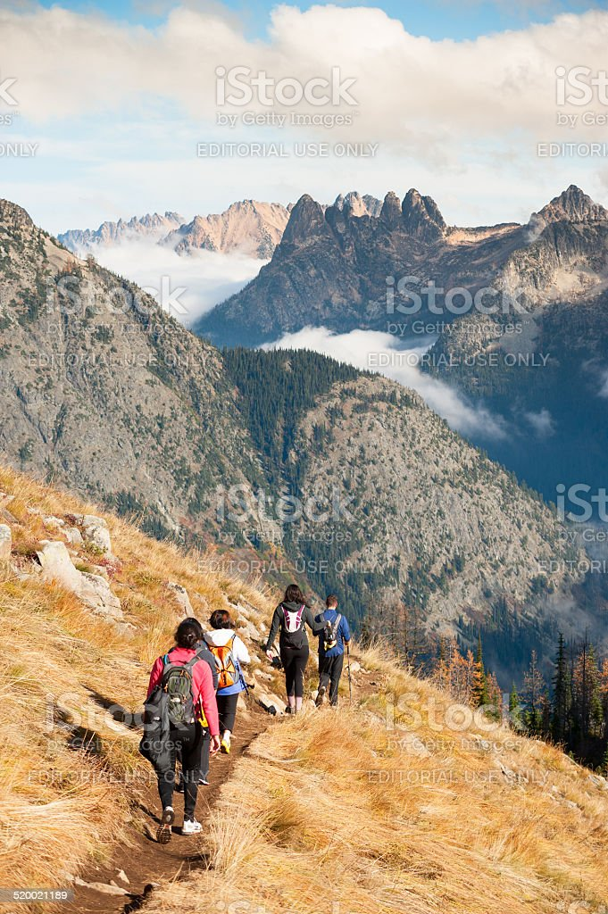 Hiking in the North Cascades royalty-free stock photo