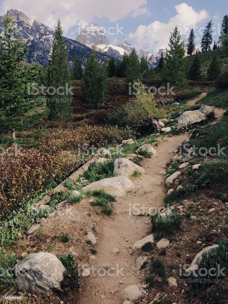 Hiking in the Tetons royalty-free stock photo
