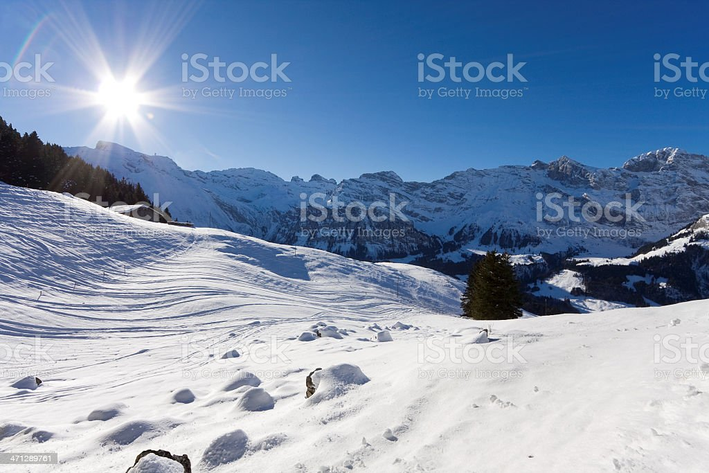 Hiking in the Titlis Area stock photo
