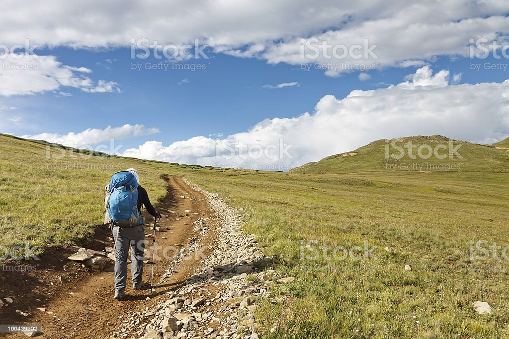 Hiking in the Tundra royalty-free stock photo
