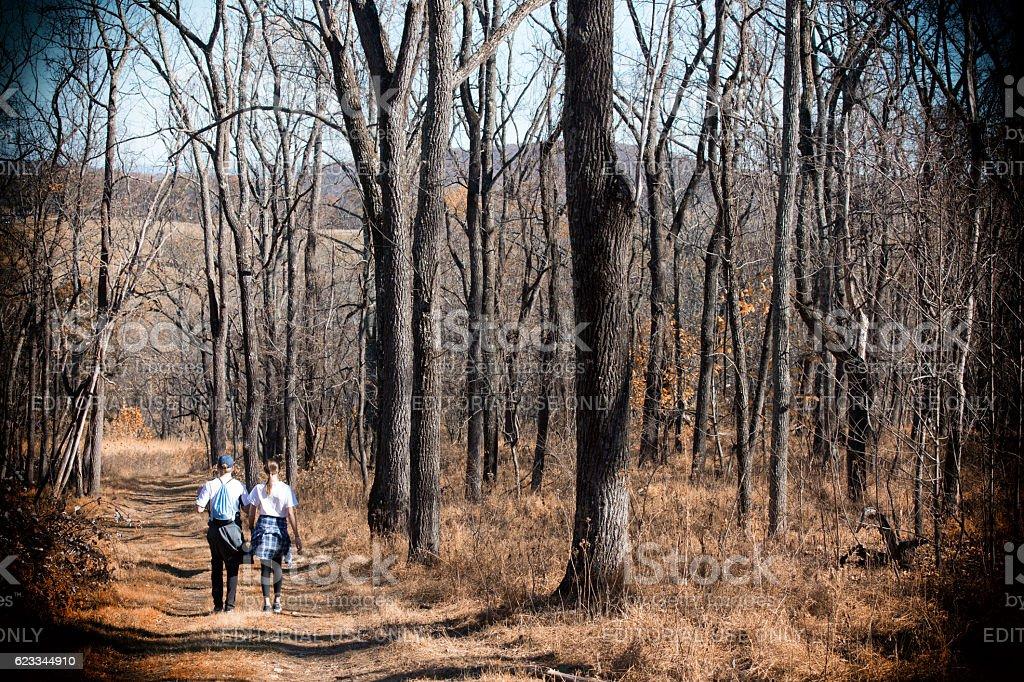 Hiking in Virginia stock photo