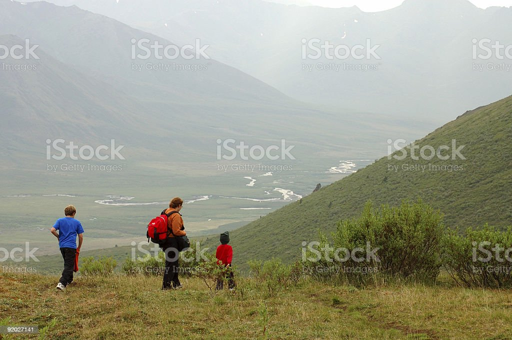Hiking in Yukon royalty-free stock photo