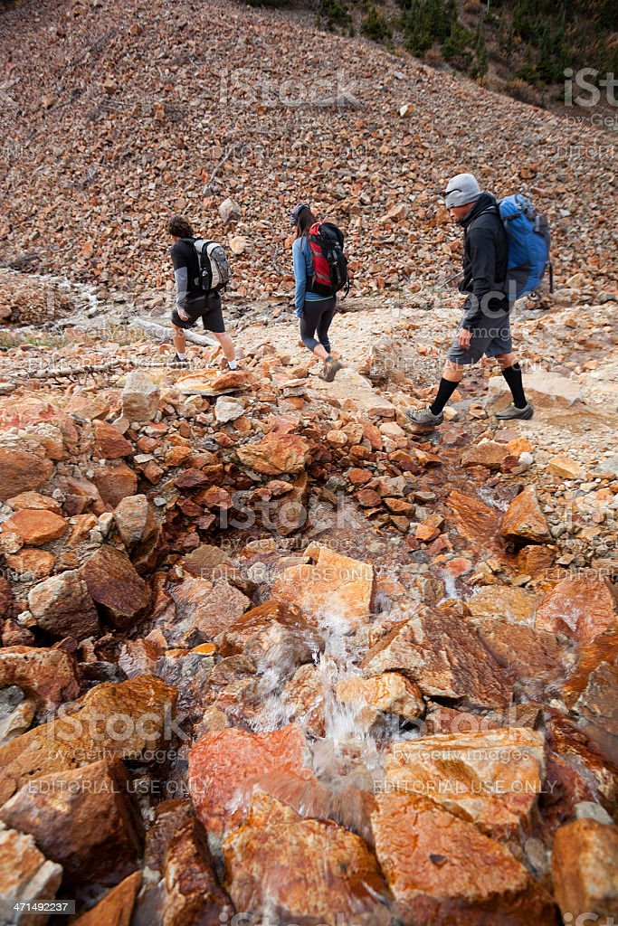 hiking landscape royalty-free stock photo