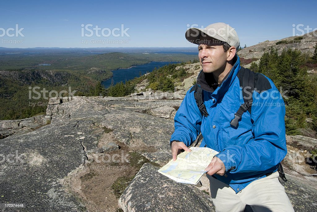 Hiking Maine royalty-free stock photo