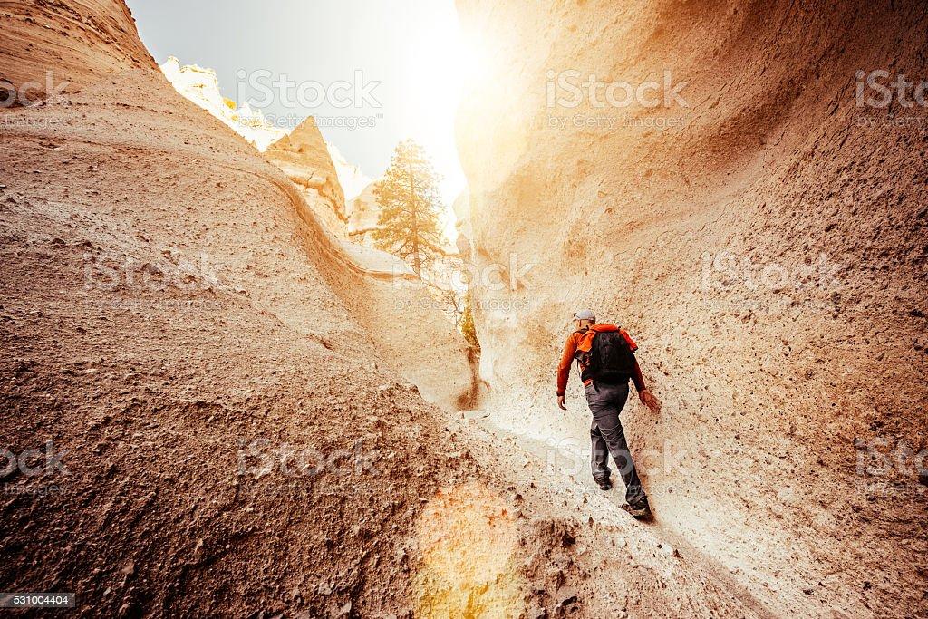 Hiking New Mexico stock photo