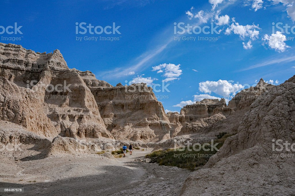 Hiking Notch Trail Badlands stock photo