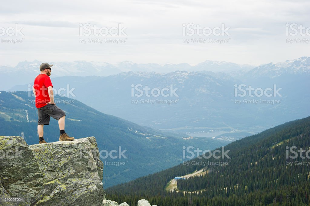 Hiking on Blackcomb Mountain in Whistler, BC stock photo