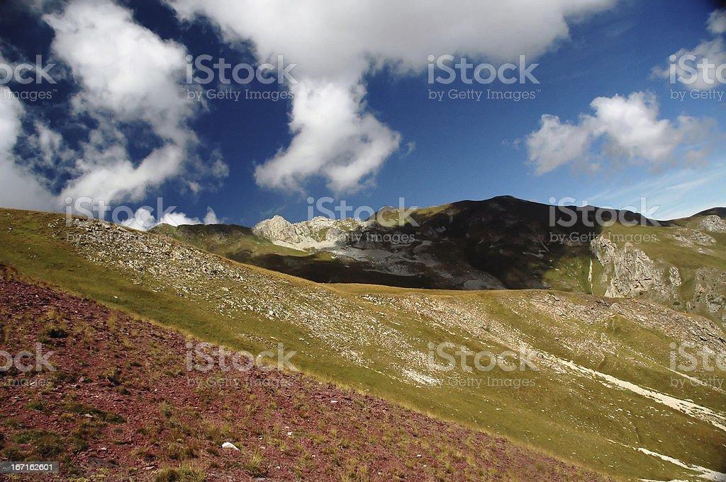 Hiking on the Mount Korab royalty-free stock photo