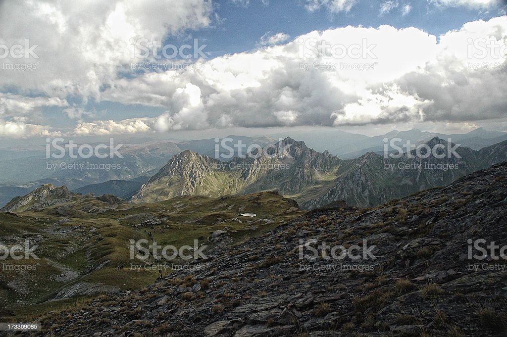 Hiking on the Mount Korab royalty-free stock photo