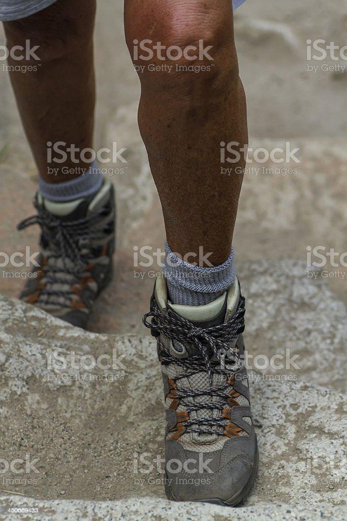 Hiking on up. stock photo