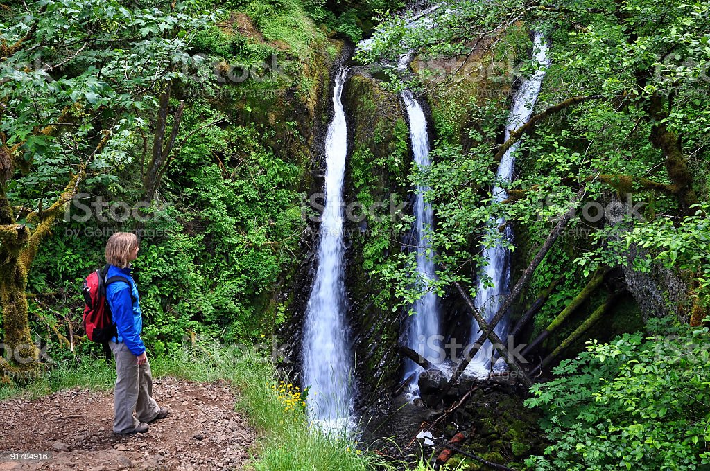 Hiking Oregon stock photo