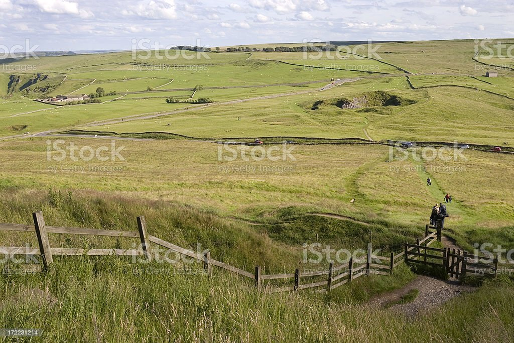 Hiking path royalty-free stock photo