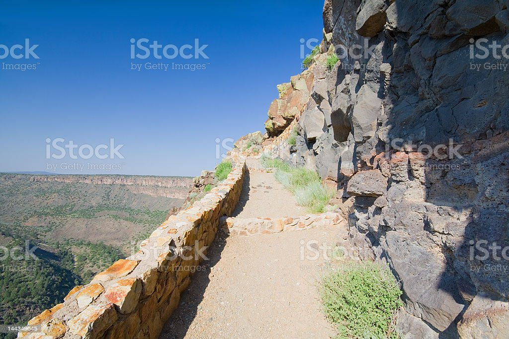 Hiking Path up the Side of Rio Grande River Gorge royalty-free stock photo