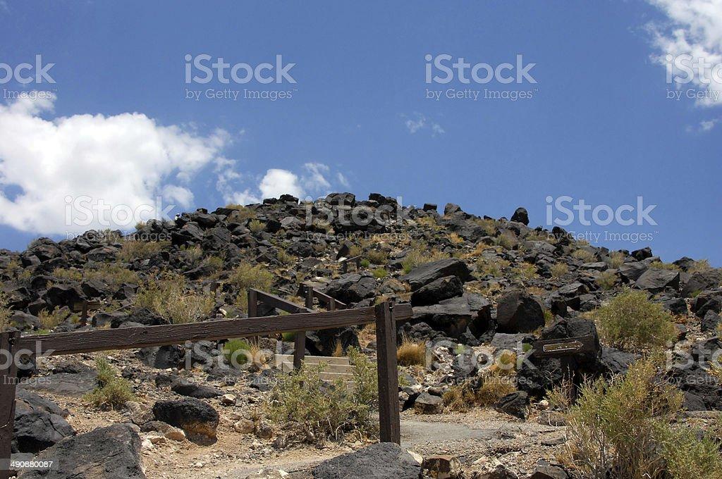 Hiking Petroglyph National Monument stock photo
