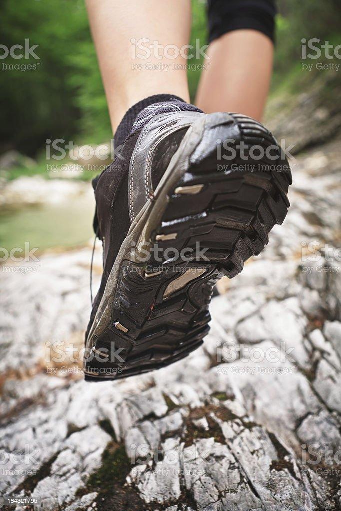 Hiking royalty-free stock photo